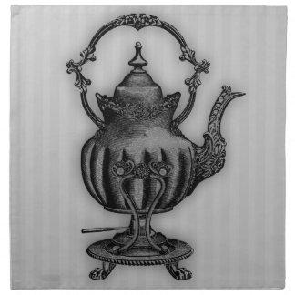 Hora para la tetera del té #5 servilleta imprimida