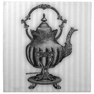 Hora para la tetera del té #8 servilletas imprimidas