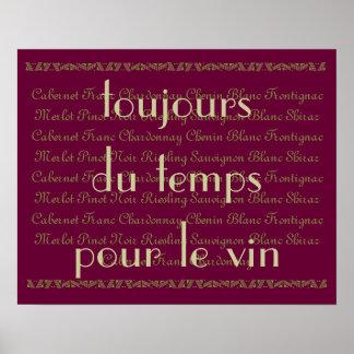 Hora para las palabras francesas de un poco de vi poster