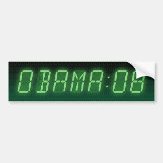 hora para obama: 08: pegatina para auto
