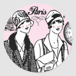 Hora para París Pegatina Redonda