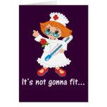 Hora para que la enfermera tome su temperatura felicitacion