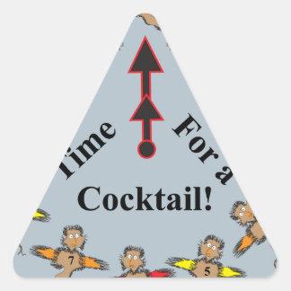 ¡Hora para un cóctel! Calcomanías Trianguladas
