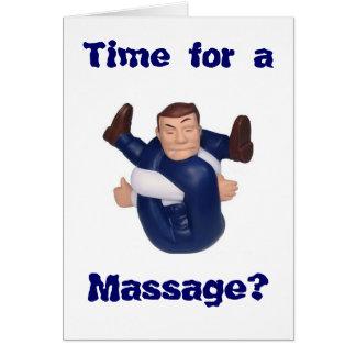 ¿Hora para un masaje? esconda el interior I n… Tarjeta Pequeña