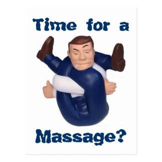 ¿Hora para un masaje? postal I
