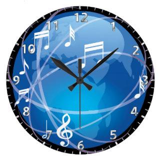 Hora para un mundo musical relojes de pared