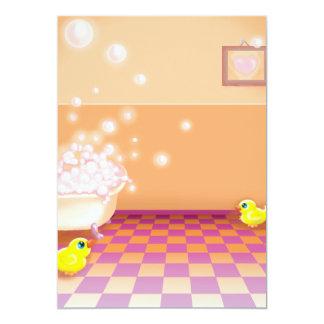 """hora para un rechoncho ducky de goma invitación 5"""" x 7"""""""