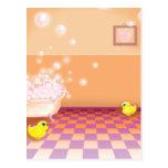 hora para un rechoncho ducky de goma tarjeta postal