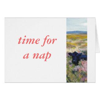Hora para una siesta tarjeta de felicitación