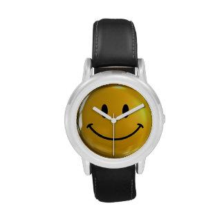 Hora para una sonrisa - reloj del acero inoxidable