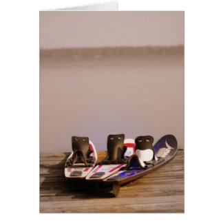 ¡hora perfecta de esquiar! tarjetas