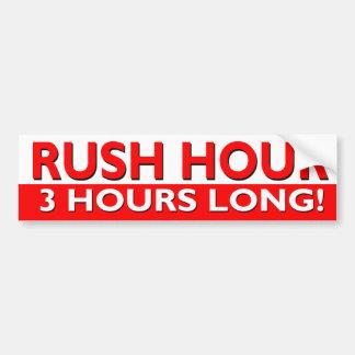 Hora punta 3 horas de largo pegatina para auto