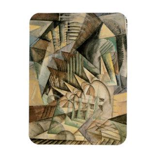 Hora punta, Nueva York de Max Weber, cubismo del Imán Foto Rectangular