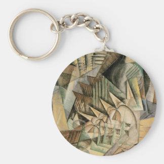 Hora punta, Nueva York de Max Weber, cubismo del Llavero Redondo Tipo Pin
