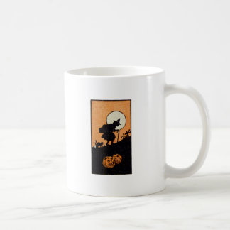 Hora Witching (tarjeta de Halloween del vintage) Tazas