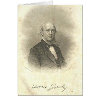 Horace Greeley Civil War Era Engraving Notecard