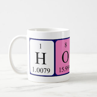 Horace periodic table name mug