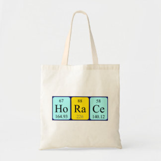 Horace periodic table name tote bag