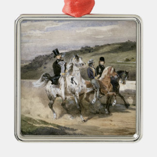 Horace Vernet and his Children Metal Ornament