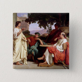 Horace, Virgil and Varius Button