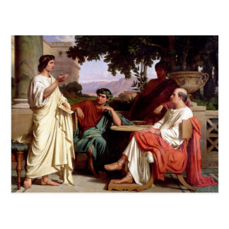 Horace, Virgil and Varius Postcard