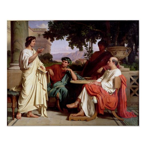 Horace, Virgil and Varius Poster