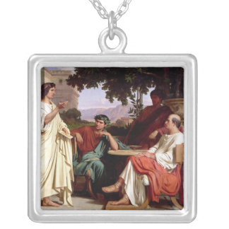Horace, Virgil and Varius Silver Plated Necklace