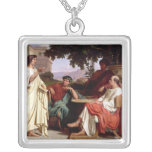 Horace, Virgil and Varius Square Pendant Necklace