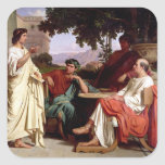 Horace, Virgil and Varius Square Sticker