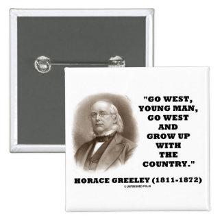 Horacio Greeley va el hombre joven del oeste va al Pins