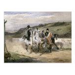 Horacio Vernet y sus niños Postal
