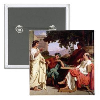 Horacio, Virgil y Varius Pin Cuadrada 5 Cm