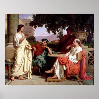 Horacio, Virgil y Varius Póster