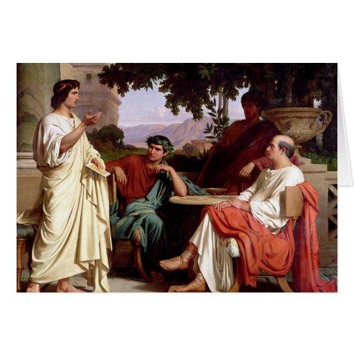 Horacio, Virgil y Varius Tarjeta De Felicitación