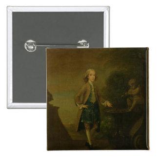 Horacio Walpole, envejecido 10, 1727-8 Pin Cuadrado