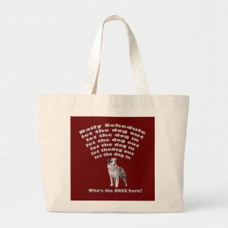 Horario australiano del pastor bolsa de tela grande