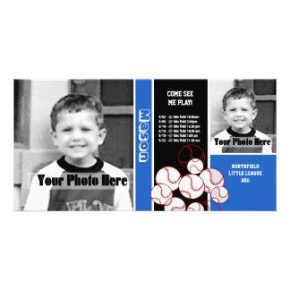 Horario del deporte del béisbol tarjetas fotograficas personalizadas