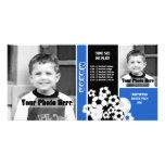 Horario del deporte del fútbol tarjeta con foto personalizada