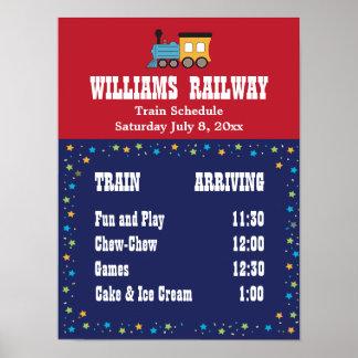 Horario del fiesta del tren póster