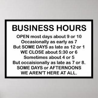 Horas de oficina póster