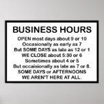 Horas de oficina posters