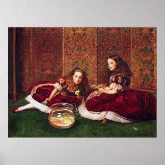 Horas del ocio - John Everett Millais Poster