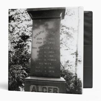 Horatio Alger's grave in Natick, Massachusetts 3 Ring Binder