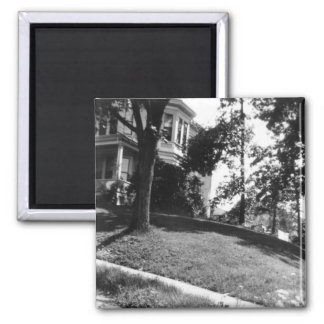 Horatio Alger's house in Natick, Massachusetts 2 Inch Square Magnet