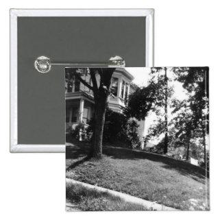 Horatio Alger's house in Natick, Massachusetts Button