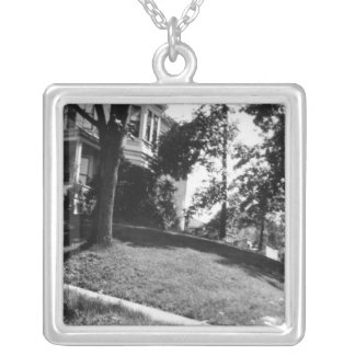 Horatio Alger's house in Natick, Massachusetts Silver Plated Necklace