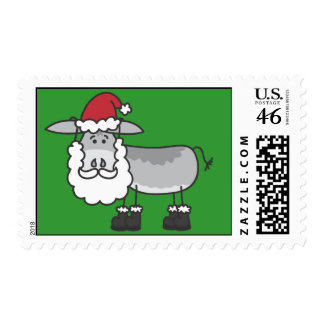 Horatio Donkey Holiday Santa Postage Stamp