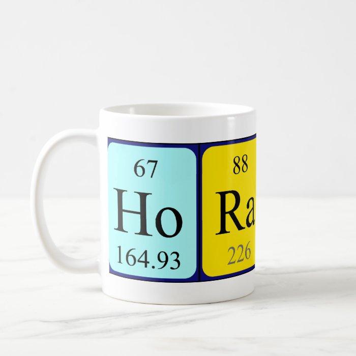 Horatio periodic table name mug