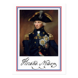 Horation Nelson painting and autograph Postcard