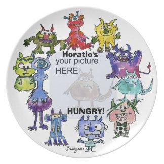 Horatio's Hungry Cartoon Monsters Custom Plate